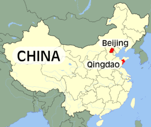 China Map Qingdao Beijing